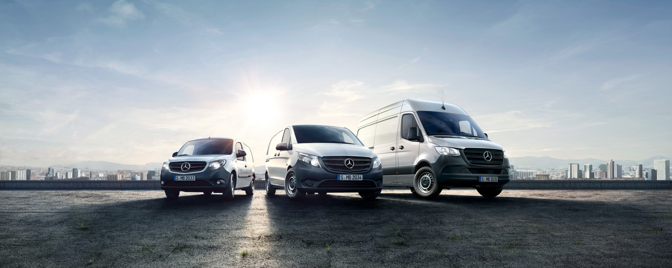 Mercedes-Benz Range with the new Sprinter, Citan and Vito